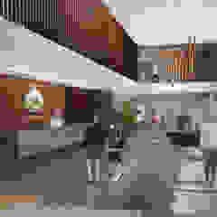 IROTAMA BAHIA Pasillos, vestíbulos y escaleras de estilo moderno de CAMPUZANO ARQUITECTOS Moderno