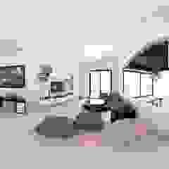 Mediterranean style media rooms by acadia arquitectos Mediterranean