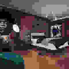 Dormitorio Dormitorios industriales de Minkarq. Arquitectura y construcción Industrial Madera Acabado en madera