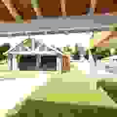 VIVIENDA UNIFAMILIAR Garajes modernos de INNOVA Moderno Madera Acabado en madera