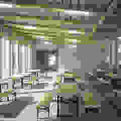 Wettbewerb Gemeindezentrum und Schulhauserweiterung | Ried-Brig Moderne Veranstaltungsorte von Erni Grimm Architekten AG Modern