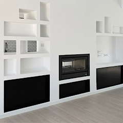 House ML26 Salas de estar mediterrânicas por Tiago Barros Studio Mediterrânico