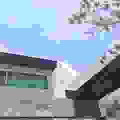 Deck sintético y natural de Haus Design Studio Moderno Madera Acabado en madera