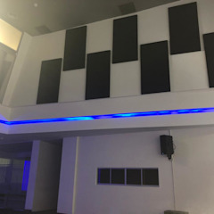 Sound Acoustic Panel Conference Hall in Kuala Lumpur Modern style media rooms by Kp Khoo Enterprise Modern Wood Wood effect