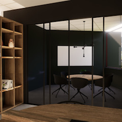 Co-work office space by Acre studio Modern Copper/Bronze/Brass