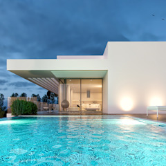CASA PCS1- Moradia em Tavira - Projeto de Arquitetura por Traçado Regulador. Lda Moderno Cerâmica