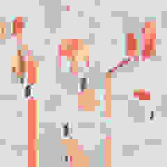 MAME32 Orange Tecnografica Pareti & Pavimenti in stile moderno Grigio