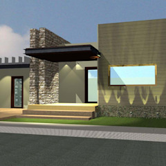 Fachada principal grupo ME Arquitectos Casas modernas