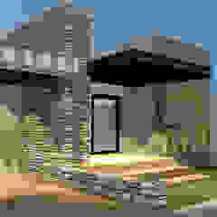 Fachada y cochera grupo ME Arquitectos Casas modernas