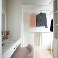 Colonial style dressing rooms by 存果空間設計有限公司 Colonial