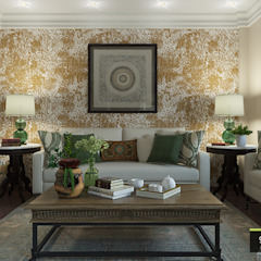 Salas de estilo colonial de Glancing EYE - Asesoramiento y decoración en diseños 3D Colonial