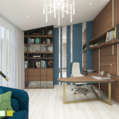 Eclectic style study/office by Мастерская интерьера Юлии Шевелевой Eclectic