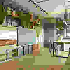 Apartamento Industrial Funcional - Cond. Eco Palace III - Pres. Prudente Salas de estar industriais por Leonardo Morato Arquitetura Industrial