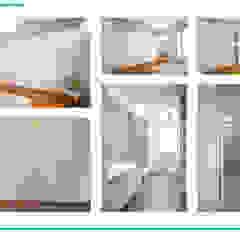 Presentazione iter progettuale Palestra in stile moderno di Chantal Forzatti architetto Moderno Marmo