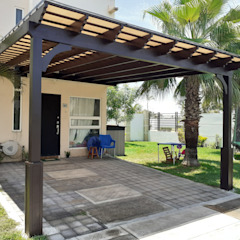 by Pergolas de Veracruz diseños americanos Mediterranean Engineered Wood Transparent