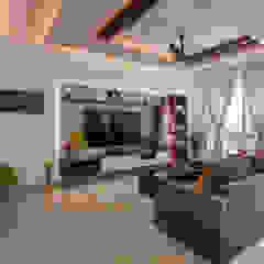 Salas de estar asiáticas por Prop Floor Interiors Asiático Contraplacado