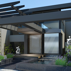 Proposed new entrance by Edge Design Studio Architects Modern