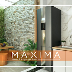 by Maxima Studio Medan Interior Design & Arsitek 휴양지 화강암