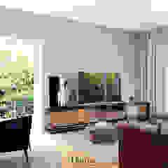Apartamento Lisboa Salas de estar industriais por Donna - Exclusividade e Design Industrial
