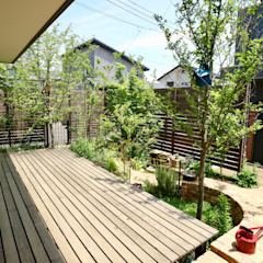Country style garden by 株式会社Garden TIME Country Wood Wood effect