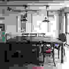 Apartamento Itaim Salas de jantar escandinavas por LCAC Arquitetura Escandinavo Concreto