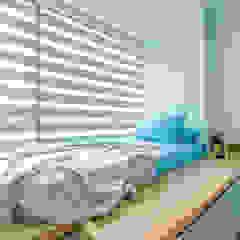 Bedroom 2 DAP Atelier Small bedroom Plywood Blue