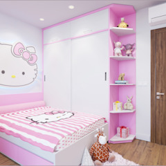 Công ty TNHH TK XD Song Phát BedroomBeds & headboards Wood-Plastic Composite Pink