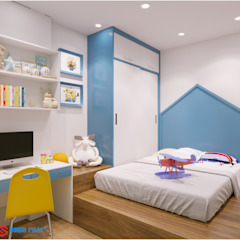 Công ty TNHH TK XD Song Phát BedroomBeds & headboards Feathers Blue