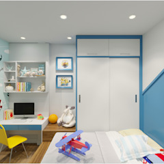 Công ty TNHH TK XD Song Phát BedroomWardrobes & closets Wood Blue
