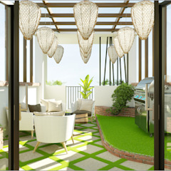 Công ty TNHH TK XD Song Phát Garden Greenhouses & pavilions Wood-Plastic Composite White