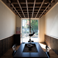 Salas multimedia asiáticas de 安田建築設計事務所 Asiático