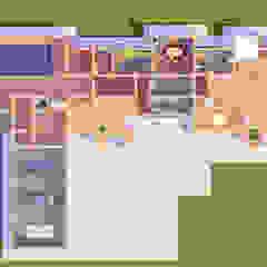 من Arprojects | Проектирование домов ريفي خشب Wood effect
