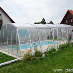 Zadaszenie basenu Gracja Komfort Nowoczesny basen od GRACJA SP. Z O.O. Nowoczesny Aluminium/Cynk