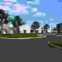 Modern Large Office Interior & Exterior Design Ideas by Walkthrough Architectural Design Studio, Dublin – Ireland من Yantram Architectural Design Studio ريفي