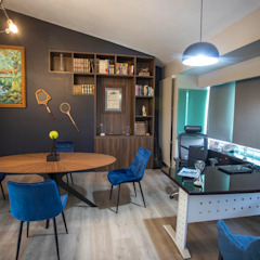 Eclectic style study/office by La Central Cocinas Integrales S.A de C.V Eclectic