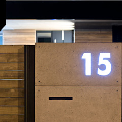 Wood and Concrete. Nowoczesne ogrodzenie z betonu architektonicznego od Xcel Minimalistyczny