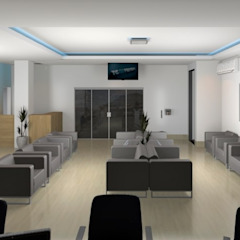 Consultório Oftalmológico em Várzea Grande MT Clínicas minimalistas por Gleisielle Carvalho Designer de Interiores Minimalista