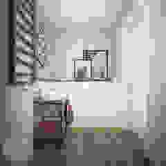 Mieszkanie w Oleśnicy Industrialna łazienka od Nevi Studio Industrialny Beton