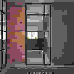Nevi Studio industrial style corridor, hallway & stairs Bricks