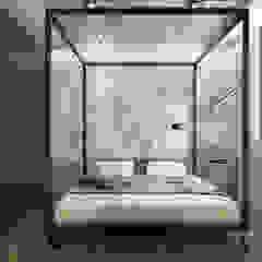 Nevi Studio Industrial style bedroom Concrete