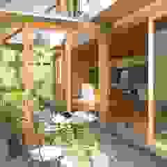 por 一級建築士事務所 青木設計事務所 Asiático Madeira Acabamento em madeira