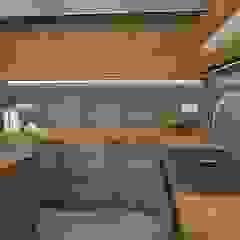 Projekt kuchnia od Dekoreveli Pracownia Projektowa Nowoczesny Beton