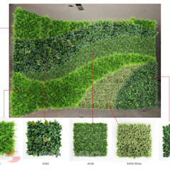 Customized Design Artificial HEDGES WALL by Sunwing Industries Ltd Tropical پلاسٹک