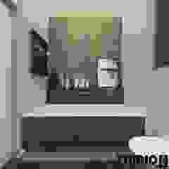 WROCŁAWSKIE 2-LEVEL Industrialna łazienka od MIKOŁAJSKAstudio Industrialny