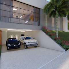 من Cor & Vida Arquitetura e Interiores حداثي أسمنت