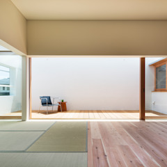 Here, There, Over there, 和風デザインの リビング の FUMIASO ARCHITECT & ASSOCIATES/ 阿曽芙実建築設計事務所 和風