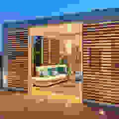 Mediterranean style balcony, porch & terrace by Brianzatende Mediterranean