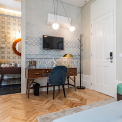Harbour Inn, Guest House - Projeto SHI Studio Interior Design por SHI Studio, Sheila Moura Azevedo Interior Design Moderno