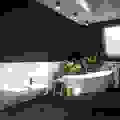 Apartament na strychu Industrialna łazienka od MIKOŁAJSKAstudio Industrialny
