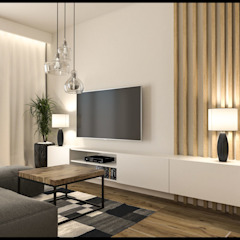 GACKOWSKA DESIGN Salones de estilo moderno